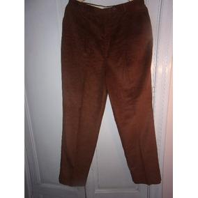 Pantalón De Vestir De Pana Marrón Para Hombre, Talle L