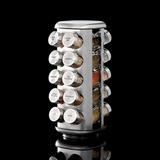 Especiero Giratorio Acero Incluye 20 Frascos Con Especias