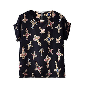 Bellas Blusa Estampada Fashion De Chifon Tallas Xl Y Xxl.