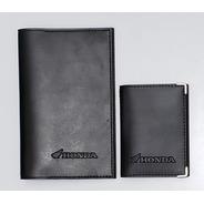 Kit Honda Moto Porta Manual E Porta Documentos