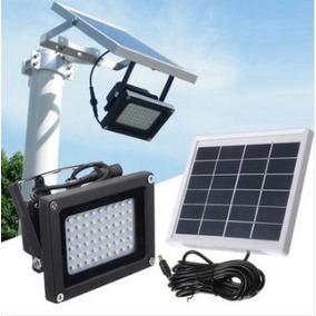 Lámpara De Seguridad 54 Led Impermeable Luz Exterior Solar