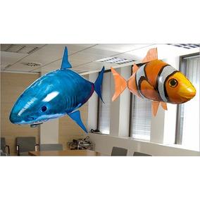 Pez Volador Tiburon Nemo A Radio Control Remoto Rc Inflable