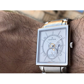 Relógio Edox Les Bemonts Mechanical Open Hearth Ultra Slim