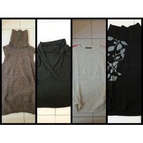 Lote X 4 Sweaters Polera Chaleco Estilo Akiaba Jazmin 61cd5e5015f