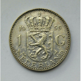 Mm Holanda 1 Gulden 1955 Plata