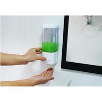 Dispensador Jabon Liquido Shampoo Blanco Champu Pared