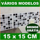 Adesivo Pastilha Para Parede (15 X 15 Cm) Banheiro Cozinha