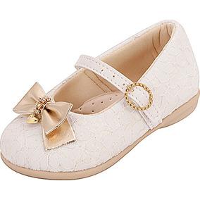 Sapatilha Infantil Menina Plis Calçados Renda Branca 115