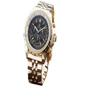 Orkina Reloj Hombres Cuarzo Ruso Oferta Golden Mans Strainl
