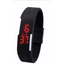 Relógio De Pulso Esportivo Pulseira Bracelete Led Unissex