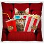 Capa Para Almofada Estamp Microfibra - Gato Cinema A109