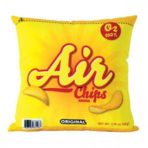 Almofada Decorativa Batata Chips Geek Amarela Decoração