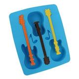 Guitarra Acustica Molde Fabricante Torta Hielo Bandeja X14