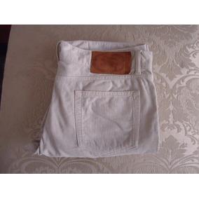 Pantalon Burberry Color Crema Pana 100% Original!!