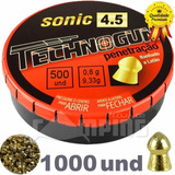 Chumbinho 4.5 Carabina De Pressão Sonic Penetração 1000 Und
