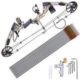 Fijado Derecha Pro Compuesto Arco Kit Flecha Objetivo De...
