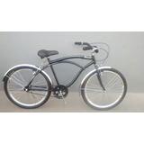 Bicicleta Aro 26 Beach Caiçara Preta C/ Roda Aero Acessorio