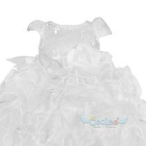 Hemoso Vestido Blanco Para Fiesta Niña Elegante 160