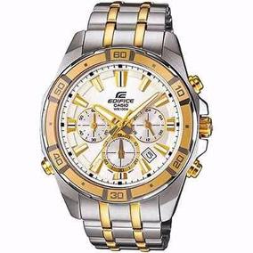 Relógio Casio Edifice Efr534sg-7av Prata Com Dourado S/juros