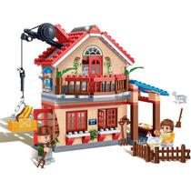 Brinquedo Para Montar Eco Fazenda Casa 315 Pcs Banbao