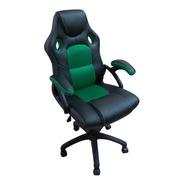 Silla Gamer / Escritorio Premium 1801 Negro/verde Envio Gratis 6/12 Cuotas