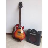 Guitarra Eléctrica Epiphone Les Paul Con Amplificador.