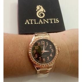 b4ce70401b8 Relogio Femininos Rose - Relógio Atlantis no Mercado Livre Brasil