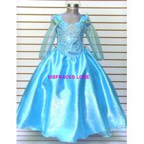 Disfraz Vestido Elsa Talla 2-3 Años Disfraces Elsa Frozen