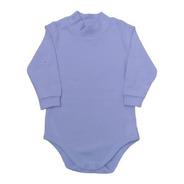 Body Infantil Com Gola Alta - Azul- Piu Piu