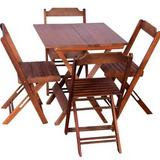 Ideal Para Bares E Restaurantes Mesas 70x70 Com 4 Cadeiras