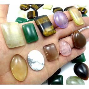 Oferta !!! Cabochão Mix Pedras Naturais - Kit 40 Peças