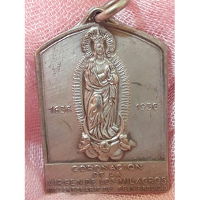 Medalla Religiosa Coron Virgen De Los Milagros Sta Fe 1936