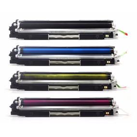 Kit Com 4 Cartuchos P/ Impressora Laserjet Pro Cp1025 Color