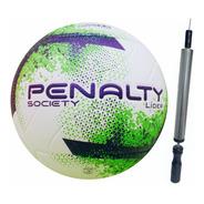 Bola Futebol Society Penalty Lider X Mais Inflador 1 Un.