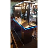 Barra De Bebidas +chop+ Luces Led Azules A Control Remoto