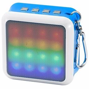 Mini Caixa De Som Bluetooth Usb Micro Sd Radio Led Chaveiro