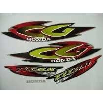 Kit Adesivos Faixas Honda Cg 125 Titan Ks 2001 Prata