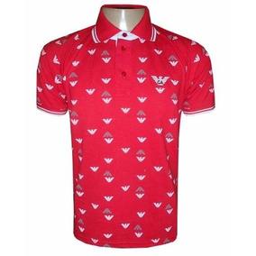 Camisa Polo Giorgio Armani Vermelha Ga810