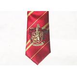 Gravata Harry Potter Grifinória Com Símbolo Bordado