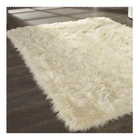 Alfombra de lana de pelo largo para juego living o comedor for Alfombra negra pelo largo