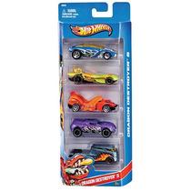 Hot Wheel Conjunto Com 5 Carros - Mattel