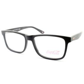 Armação Coca-cola Óculos Para Grau Amadeirado - Cc2 4116