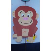 Piñata Mono Animales De La Selva En Goma Eva