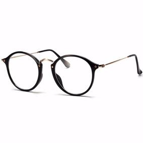 Armação Óculos De Grau Acetato Redondo Masculino Feminino Ia