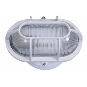 Luminária Arandela Tipo Tartaruga P/ Parede Externa Branca