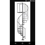 Escada Caracol Ferro Degrau 80
