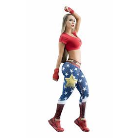 Leggins Mujer Maravilla Liga De La Justicia