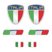 Kit Adesivos Emblema Escudo Placa Coluna Itália Resinados