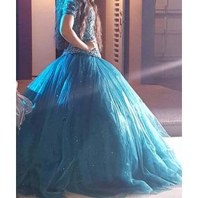 Vestido Para Xv Años Color Azul Petroleo 15 Años Quince Años