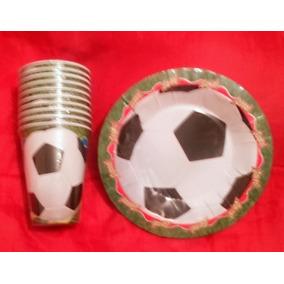 Aa Fútbol 50 Vasos Y 50 Platos Artículos De Fiesta Promo